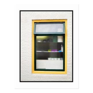 Holländer-Holland-Fenster Windows Amsterdam Postkarte