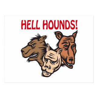 Höllen-Jagdhunde Postkarte