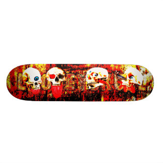 Höllen-Schädel 18,4 Cm Mini Skateboard Deck