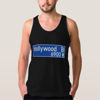 Hollywood Boulevard, Los Angeles, CA-Straßenschild Tank Top