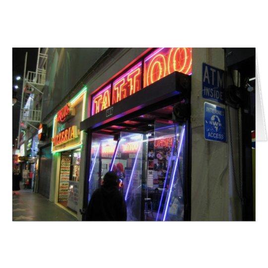 Hollywood-Boulevard. Tätowierung Grußkarte
