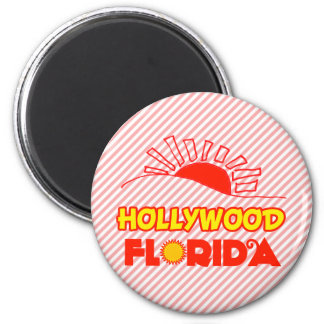 Hollywood, Florida Runder Magnet 5,7 Cm