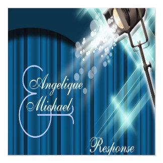 Hollywood-HochzeitswarteBühnetheater Quadratische 13,3 Cm Einladungskarte
