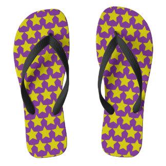 Hollywood-Sternpurzelbäume (Frauen) (lila u. gelb) Flip Flops