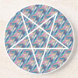 Hologramm Pentagram Getränkeuntersetzer