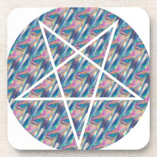 Hologramm Pentagram Untersetzer