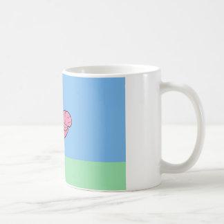 Holperiger Gehirn-Flamingo Kaffeetasse