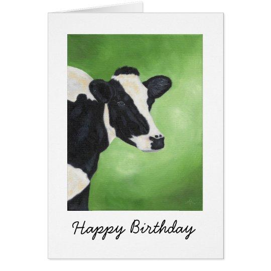 Holstein-Kuh-Geburtstags-Karte Grußkarte