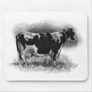 Holstein-Kuh: Ursprüngliches Bleistift-Zeichnen: Mousepad
