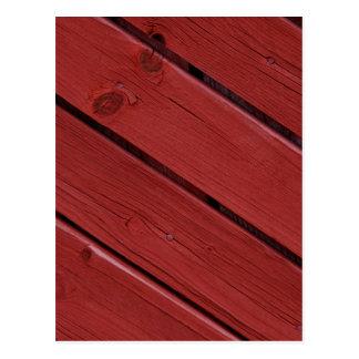Holz im typischen schwedischen Rot Postkarten