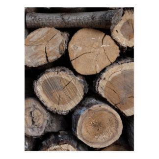 Holz im Woodshed Postkarte