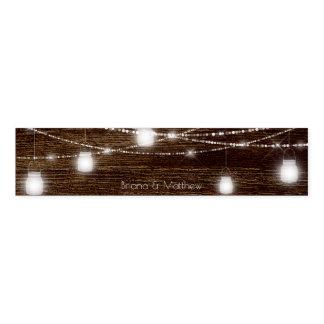 Holz mit Weckglas beleuchtet Servietten-Band Serviettenband