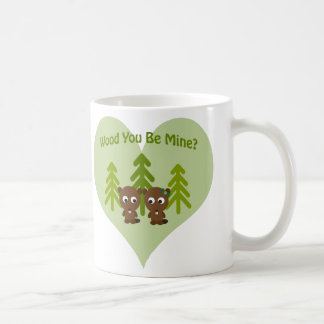 Holz sind Sie Bergwerk-Biber-Paare Kaffeetasse