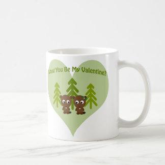 Holz sind Sie mein Valentinsgruß Kaffeetasse