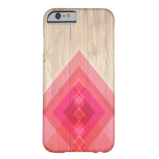 Holz-und Diamant-Telefon-Kasten (Rosa) Barely There iPhone 6 Hülle