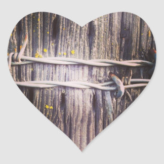 Hölzerne Beschaffenheits-Herz-mit Stacheln Herz-Aufkleber