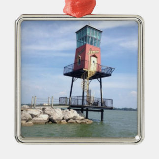 Hölzerne Boots-Zeichen-Foto-Feiertags-Verzierung Silbernes Ornament