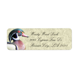 Hölzerne Enten-Adressen-Etiketten Rückversand-Adressaufkleber