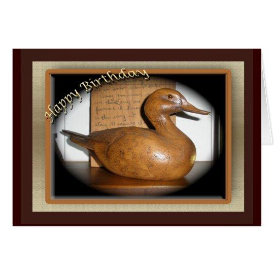 Hölzerne Enten-Geburtstags-Karte Grußkarte