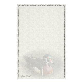 Hölzerne Enten-Gewohnheits-Briefpapier Briefpapier