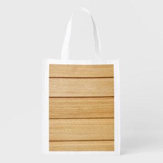 Hölzerne Fliesen-wiederverwendbare Tasche Wiederverwendbare Einkaufstasche