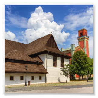 Hölzerne Gelenkkirche in Kezmarok, Slowakei Fotodruck