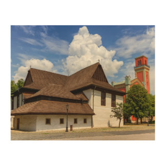 Hölzerne Gelenkkirche in Kezmarok, Slowakei Holzleinwand