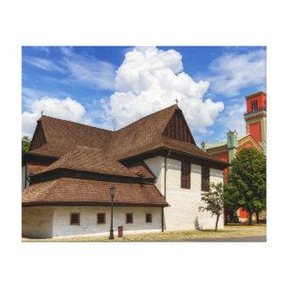Hölzerne Gelenkkirche in Kezmarok, Slowakei Leinwanddruck