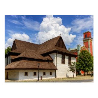 Hölzerne Gelenkkirche in Kezmarok, Slowakei Postkarte
