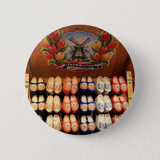 Hölzerne gemalte Klötze, Holland 2 Runder Button 5,7 Cm
