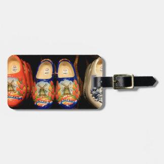 Hölzerne gemalte Klötze, Holland Gepäckanhänger