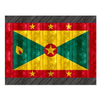 Hölzerne grenadische Flagge Postkarte