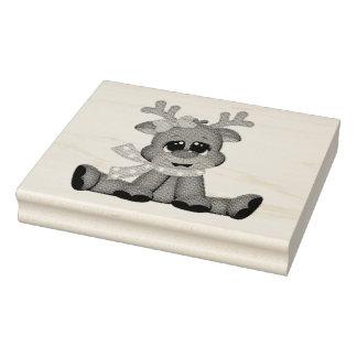 Hölzerne Kunst-Briefmarken/Baby Rudolph Gummistempel