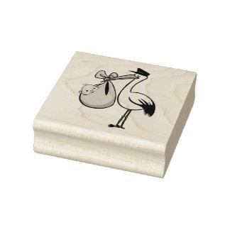 Hölzerne Kunst-Briefmarken/Storch mit Baby Gummistempel