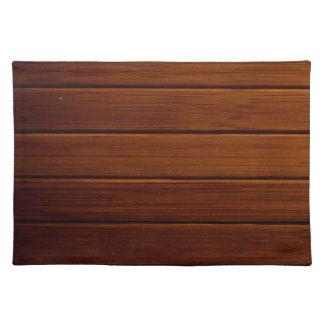 Hölzerne Planken, Barken, Bretter, Scheunen-Wand - Stofftischset