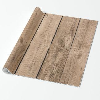 Hölzerne Planken III Geschenkpapier