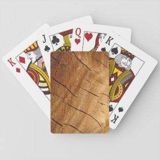 Hölzerne Spielkarten