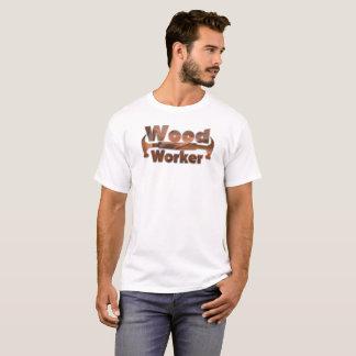 Hölzerner Arbeitskraft-Spaß-T - Shirt