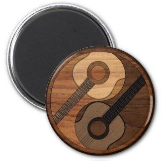 Hölzerner Blick-Akustikgitarre Yin Yang Runder Magnet 5,1 Cm