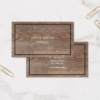 Hölzerner Blick-doppelseitige Visitenkarte