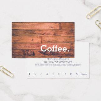 Hölzerner Boden-einfache Visitenkarte