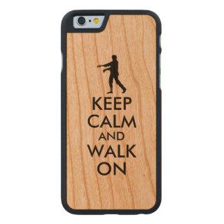 Hölzerner iphone Fall behalten ruhigen gehenden Carved® iPhone 6 Hülle Kirsche