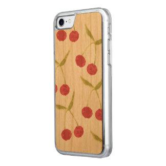 Hölzerner Kirschmuster-Fall Carved iPhone 8/7 Hülle