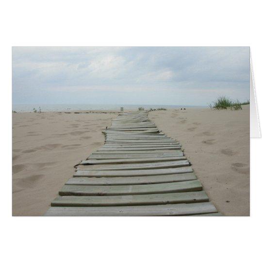 Hölzerner Planken-Weg Grußkarte