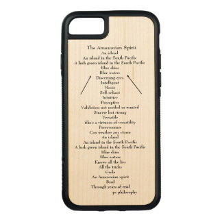 hölzerner Telefonkasten für Apple-Ausgaben Carved iPhone 8/7 Hülle