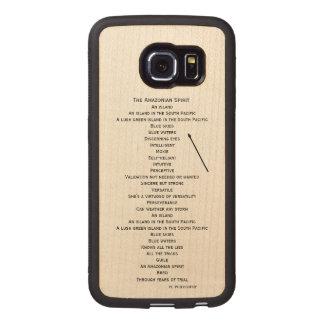 hölzerner Telefonkasten für den Rand Samsungs S6 Handyhülle Aus Holz