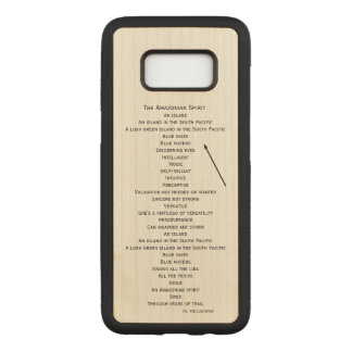 hölzerner Telefonkasten für die Ausgabe Samsungs Carved Samsung Galaxy S8 Hülle