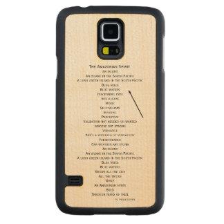 hölzerner Telefonkasten für die Samsung-Galaxie S5