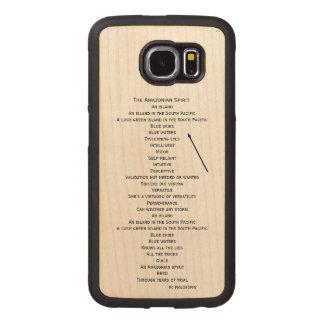 hölzerner Telefonkasten für die Samsung-Galaxie S6 Handyhülle Aus Holz