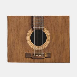 Hölzernes Akustikgitarre-rustikales Türmatte